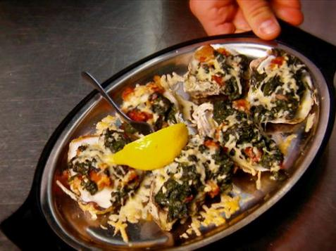 Oysters Rockefeller With Guy Fieri on Diners, Drive-Ins and Dives