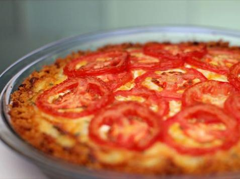 Tomato Pie With Cheddar Crust