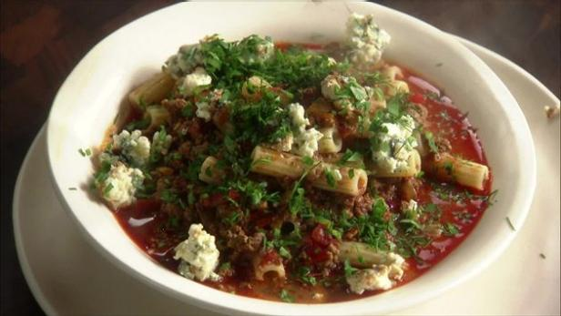 Beef goulash with blue cheese food network for Blue cheese burger recipe rachael ray