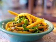 Edamame, Bok Choy and Mango Salad with Asian Vinaigrette