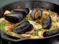 Quick Paella with Chorizo, Shrimp and Chicken